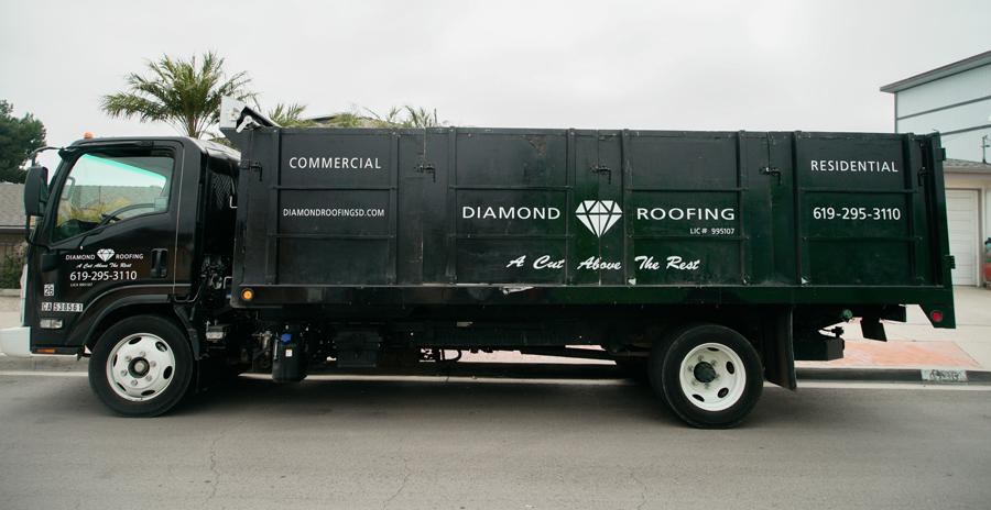 diamond roofing lift truck